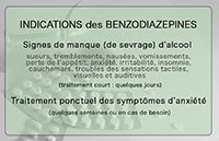 Indications des benzodiazepines