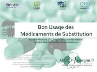 Cours Dr N. Authier - Bon usage des médicaments de substitution aux opiacés