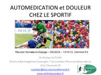 Automédication et douleur chez le sportif